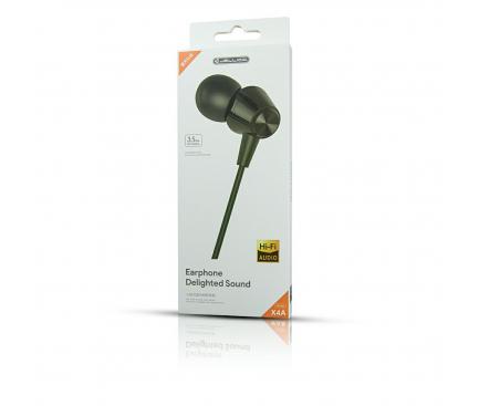 Handsfree Casti In-Ear JELLICO X4A, Cu microfon, 3.5 mm, Negru, Blister