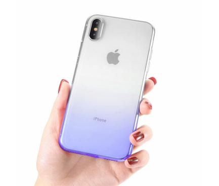 Husa TPU OEM Ombre pentru Xiaomi Pocophone F1, Albastra, Bulk