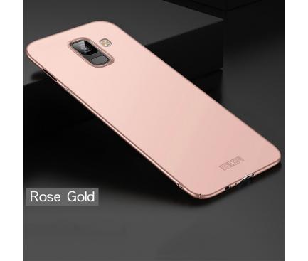 Husa Plastic Mofi Slim pentru Samsung Galaxy A6 (2018) A600, Roz Aurie, Blister