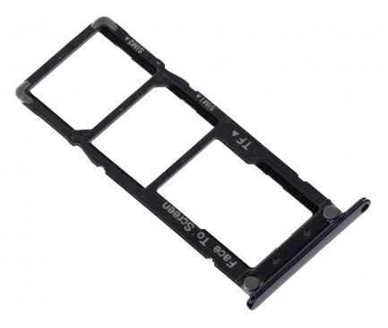 Suport Card - Suport SIM Negru Asus Zenfone 4 Max ZC520KL