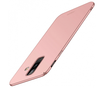 Husa Plastic Mofi Slim pentru Samsung Galaxy A6+ (2018) A605, Roz Aurie, Blister