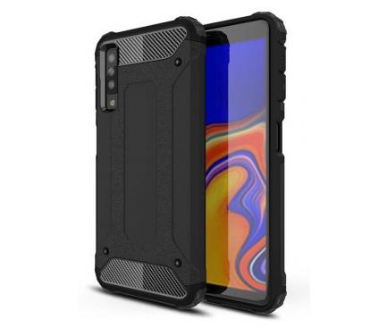 Husa Plastic - TPU OEM Tough Armor pentru Samsung Galaxy A7 (2018) A750, Neagra, Bulk