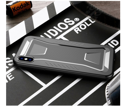 Husa TPU iPaky Shark pentru Apple iPhone XS Max, Neagra, Bulk