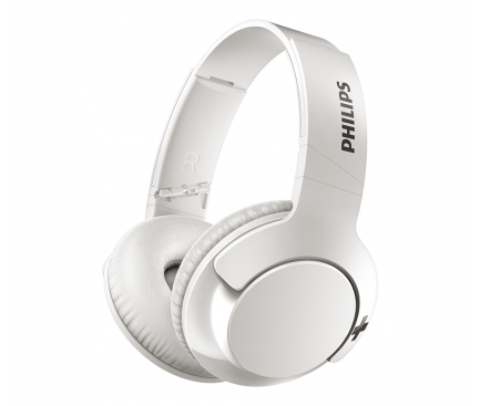 Handsfree Casti Bluetooth Philips BASS+ Over-Ear, Alb, Blister SHB3175WT/00