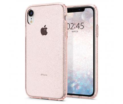 Husa TPU Spigen Liquid Crystal Glitter pentru Apple iPhone XR, Roz, Blister 064CS24868