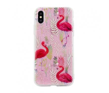 Husa TPU OEM Flamingo pentru Samsung J6 Plus (2018) J610, Multicolor, Blister