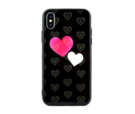 Husa TPU OEM Hearts pentru Samsung J6 Plus (2018) J610, Neagra, Blister