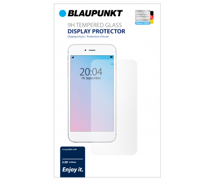 Folie Protectie Ecran Blaupunkt pentru Apple iPhone X / Apple iPhone XS, Sticla securizata, Full Face, Full Glue, 3D, Neagra, Blister BP-3DB-IPX