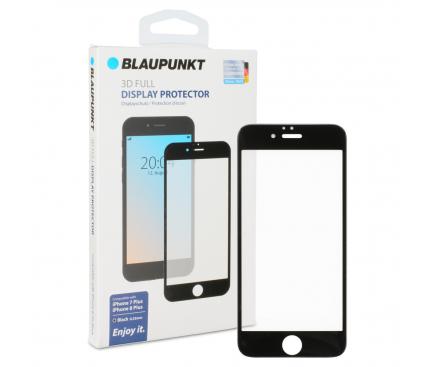 Folie Protectie Ecran Blaupunkt pentru Apple iPhone 7 Plus / Apple iPhone 8 Plus, Sticla securizata, Full Face, Full Glue, 3D, Neagra, Blister BP-3DB-IP8P