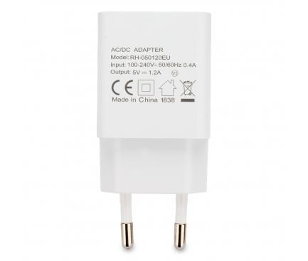 Incarcator Retea USB Blaupunkt, 1 X USB, 1.2A, Alb, Blister BP-WCAW-12A