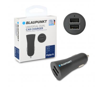 Incarcator Auto USB Blaupunkt, 1.2A, 2 X USB, Negru, Blister BP-CC2DB-24A