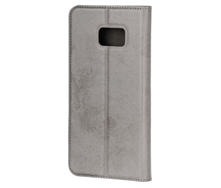 Husa Piele OEM Clarino Magnet pentru Samsung Galaxy S7 G930, Gri, Bulk