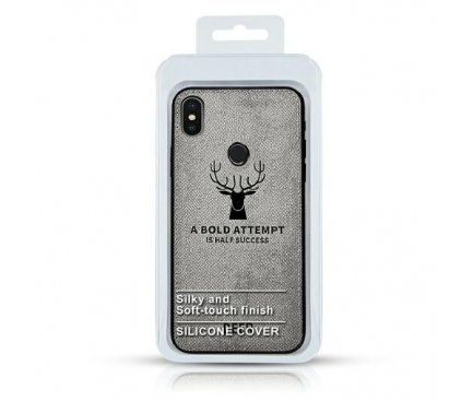 Husa TPU OEM Deer pentru Huawei Y9 (2019), Gri, Blister