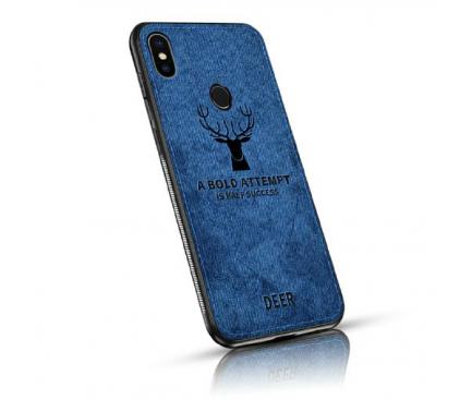 Husa TPU OEM Deer pentru Apple iPhone X / Apple iPhone XS, Albastra, Blister