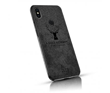 Husa TPU OEM Deer pentru Samsung Galaxy A7 (2018) A750, Neagra, Blister