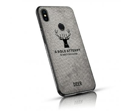 Husa TPU OEM Deer pentru Samsung Galaxy A7 (2018) A750, Gri, Blister