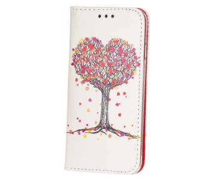 Husa Piele OEM Tree Of Love pentru Apple iPhone 6 / Apple iPhone 6s, Alba - Multicolor, Bulk