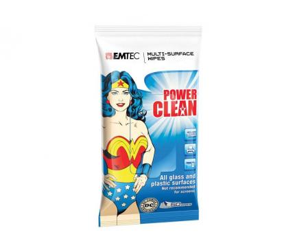 Set Servetele Curatare Dispozitive Electronice Emtec Wonder Woman (Set 50 bucati), cu alcool Blister