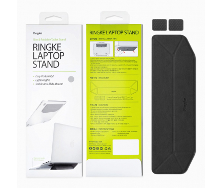 Suport laptop Ringke Foldable ACST0003, Negru Blister Original