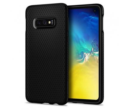 Husa TPU Spigen Liquid Air pentru Samsung Galaxy S10e G970, Neagra, Blister 609CS25836