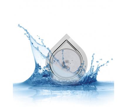 Suport inel universal pentru telefon Water-drop, Gri Blister