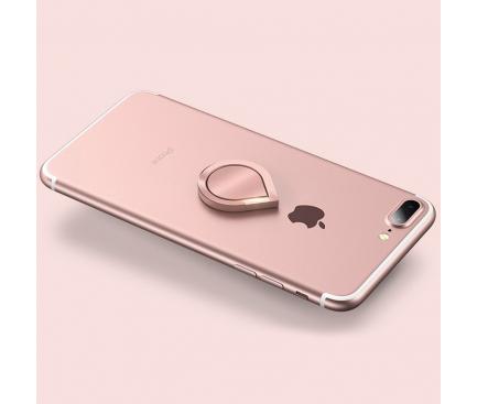 Suport inel universal pentru telefon Water-drop, Roz Blister