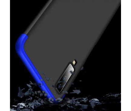 Husa Plastic OEM Full Cover pentru Samsung Galaxy A7 (2018) A750, Albastra - Neagra, Bulk