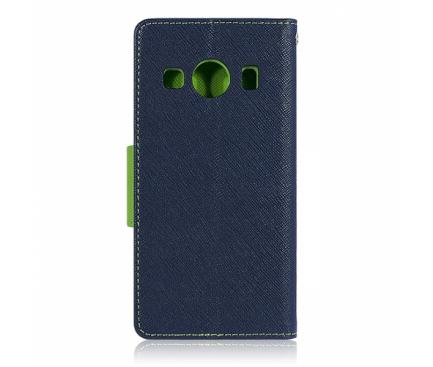 Husa Piele OEM Fancy pentru Samsung Galaxy A7 (2018) A750, Bleumarin, Bulk