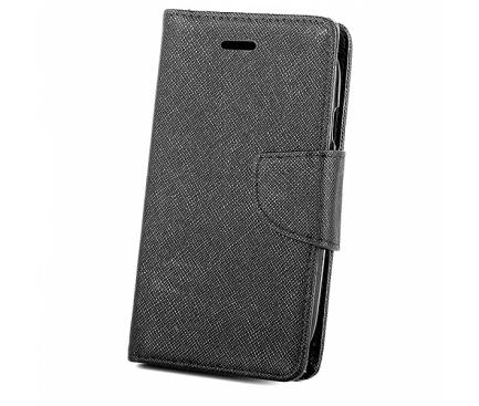 Husa Piele OEM Fancy pentru Samsung Galaxy A7 (2018) A750, Neagra, Bulk