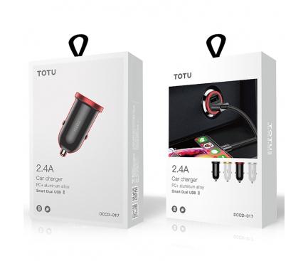 Incarcator Auto USB Totu Design DCCD-017, 2 X USB, Negru, Blister