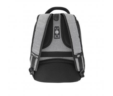 Rucsac textil laptop Tellur Companion, cu port USB, 15.6 inci, Gri TLL611202