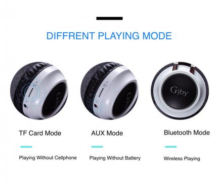 Handsfree Casti Bluetooth Gjby CA-015, Negru, Blister
