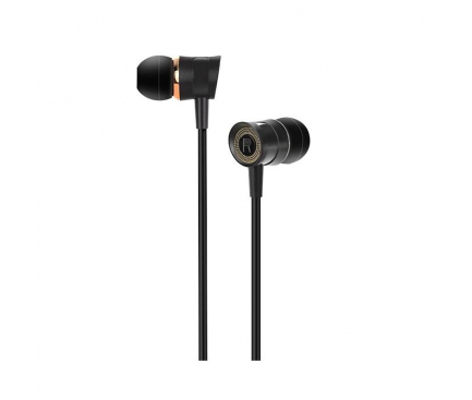 Handsfree Casti In-Ear HOCO Pleasant M37, Cu microfon, 3.5 mm, Negru, Blister