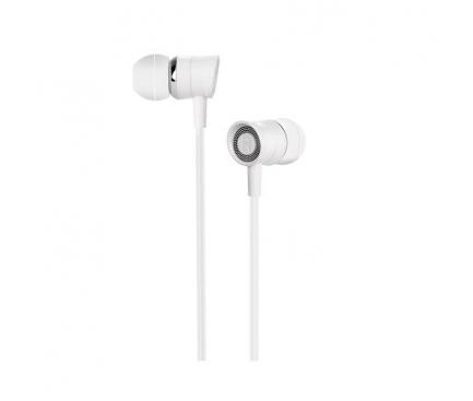 Handsfree Casti In-Ear HOCO Pleasant M37, Cu microfon, 3.5 mm, Alb, Blister