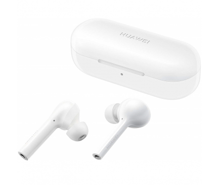 Handsfree Casti Bluetooth Huawei FreeBuds Lite Ceramic CM-H1C, SinglePoint, Alb 55030713