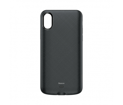Baterie Externa Tip Husa Baseus Apple iPhone X / Apple iPhone XS 4000 mA, 1 x USB, Neagra, Blister ACAPIPH58-BJ01