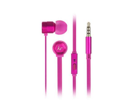 Handsfree Casti In-Ear KitSound Hive Buds, 3.5 mm, Cu microfon, Roz, Blister KSHIVBPI