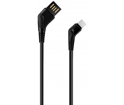 Cablu Date si Incarcare USB la USB Type-C Earldom EC-026C, 1 m, Negru, Blister