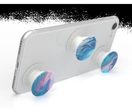 Suport Stand Adeziv 3 x Popsockets PopMinis pentru telefon Blue Nucolor Bombs Blister