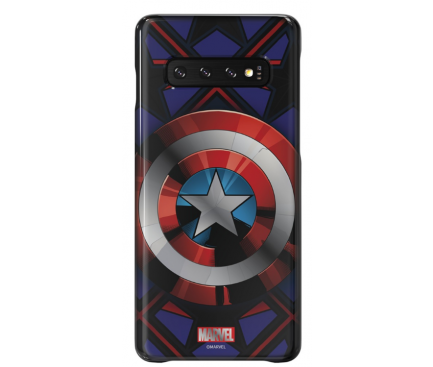 Husa Plastic Samsung Galaxy S10 G973,  Marvel Captain America,  Mov, Blister GP-G973HIFGKWC