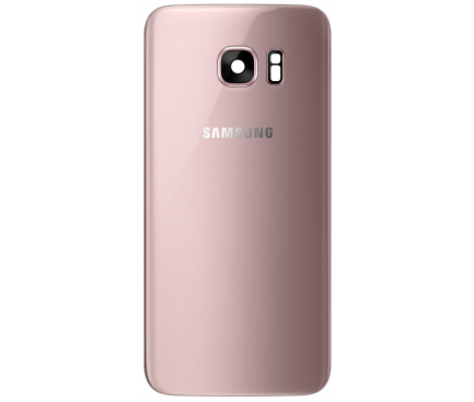 Capac Baterie Roz Auriu cu geam camera / blitz, Swap Samsung Galaxy S7 G930