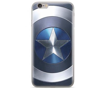 Husa TPU Marvel Captain America 005 pentru Apple iPhone 6 / Apple iPhone 6s / Apple iPhone 7 / Apple iPhone 8, Albastra, Blister