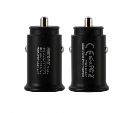 Incarcator Auto USB Remax Roki RCC219, 2.4A, 2 X USB, Negru, Blister