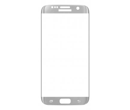 Folie Protectie Ecran OEM pentru Samsung Galaxy S7 edge G935, Sticla securizata, Full Face, 3D, Argintie, Blister
