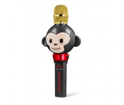 Microfon Karaoke Cu Difuzor Bluetooth Forever Animal AMS-100, Negru Blister Original