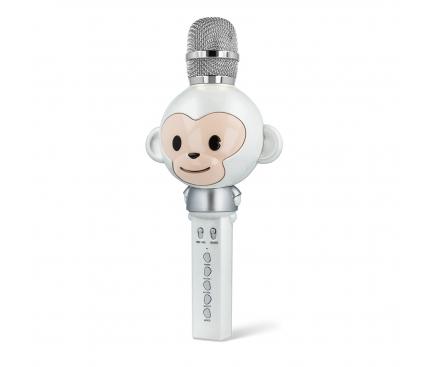 Microfon Karaoke Cu Difuzor Bluetooth Forever Animal AMS-100, Alb Blister Original