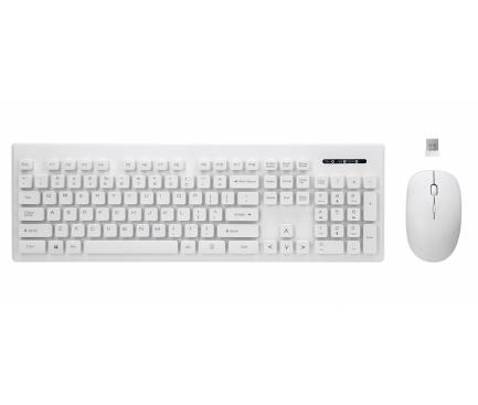 Set Tastatura  si mouse Wireless Rebeltec WHITERUN, Alb Blister Original