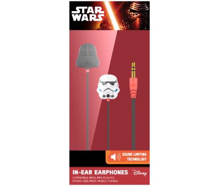 Handsfree Casti In-Ear Disney Star Wars Darth Vader, Cu microfon, 3.5 mm, Multicolor, Blister