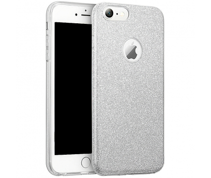 Husa TPU OEM Shining pentru Nokia 8.1 (Nokia X7), Argintie, Bulk