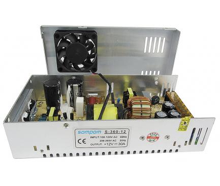 Sursa de alimentare LED SOMPOM S-360-12, 360W 12V 30A